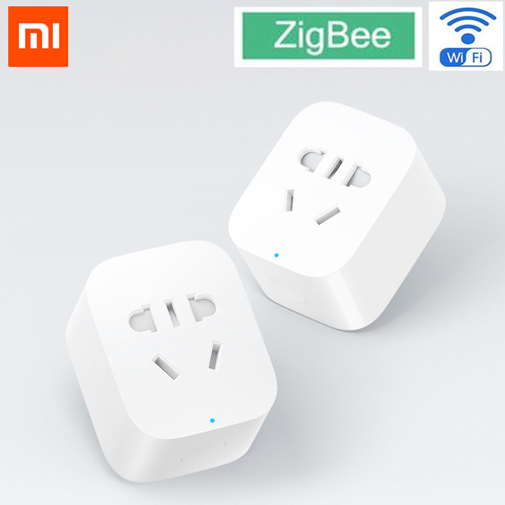 Original Xiaomi Mijia Smart Socket Plug Zigbee Version WiFi Wireless Remote Socket Adapter Power Timer Switch On And Off By APP