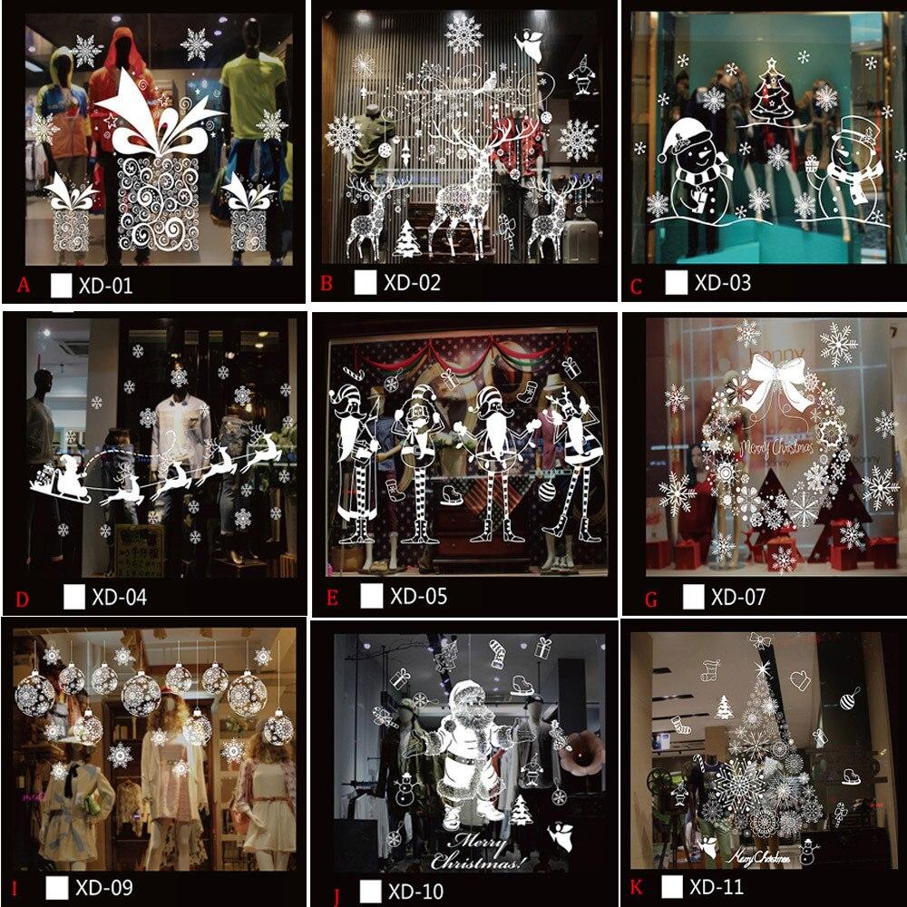 Рождественские Снеговики съемные домашние виниловые наклейки на окна настенные наклейки декоративные рождественские Снеговики съемные д...