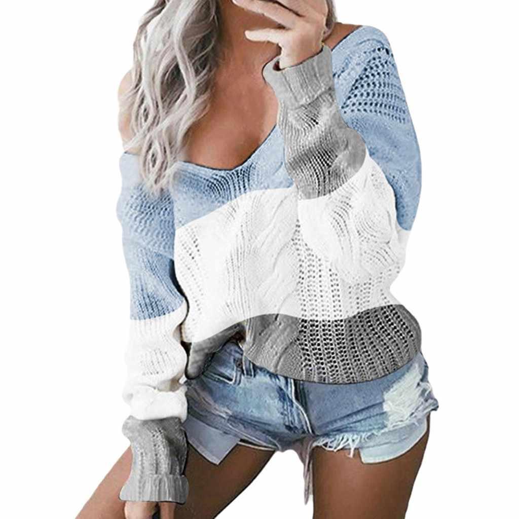 Rajutan Sweater Wanita O-Leher Sweater Kasual Rajutan Longgar Lengan Panjang Atasan Slim Fit Pullover Musim Gugur Baru Wanita Sweater Kasual