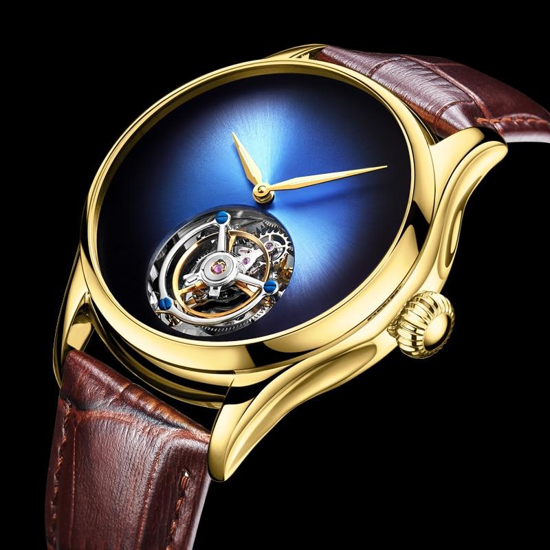 Relógio de Luxo Real à Prova Guanqin Tourbillon Relógios Mecânicos Masculinos Marca Dwaterproof Água Relógio Masculino 2020
