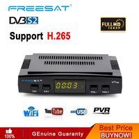 Tüketici Elektroniği'ten Uydu TV alıcısı'de Freesat V7 HD 1080P dijital reseptör DVB S2 uydu alıcısı Tv Tuner HD kutusu Cline dekoder Biss VU PVR WiFi youtube GTmedia V7