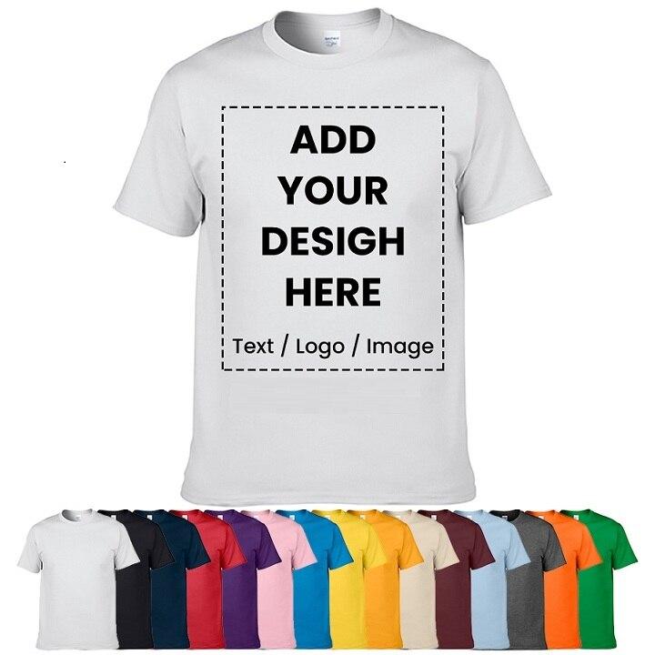 Christmas Gift Customized T-shirt Design Your Own Logo Photo Text Printed T Shirt Uniform Company Team Custom T Shirt Printing