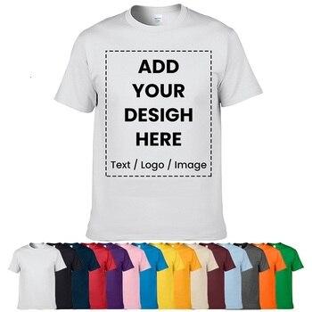 High Quality Customized T-shirt Design Your Own Logo Photo Text Printed T shirt Uniform Company Team Custom Printing