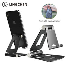 LINGCHEN Phone Holder Stand for Xiaomi mi 9 Metal Phone Holder Foldable Mobile Holder Phone Stand Desk For iPhone 7 8 X XS Max(China)