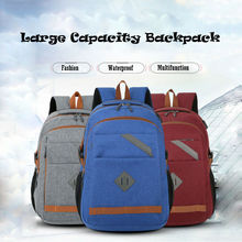 1PC Port Vintage Canvas Backpack Students Backpack Laptop School Bag Rucksack Unisex Backpacks Mochilas Feminina