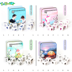 New Telling Story Dice Game Story Metal Box/Bag English Instructions Family twisty puzzle brain teaser story cubes Toys(China)