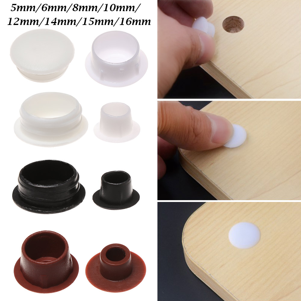 Lote de 20 tapones para orificio de 5 mm Irox pl/ástico color marr/ón