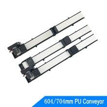 DC24V 704/604mm Vending Conveyor Single Dual Fiber/PU Belt 55mm/s Grocery Pickup Contactless Table Machine