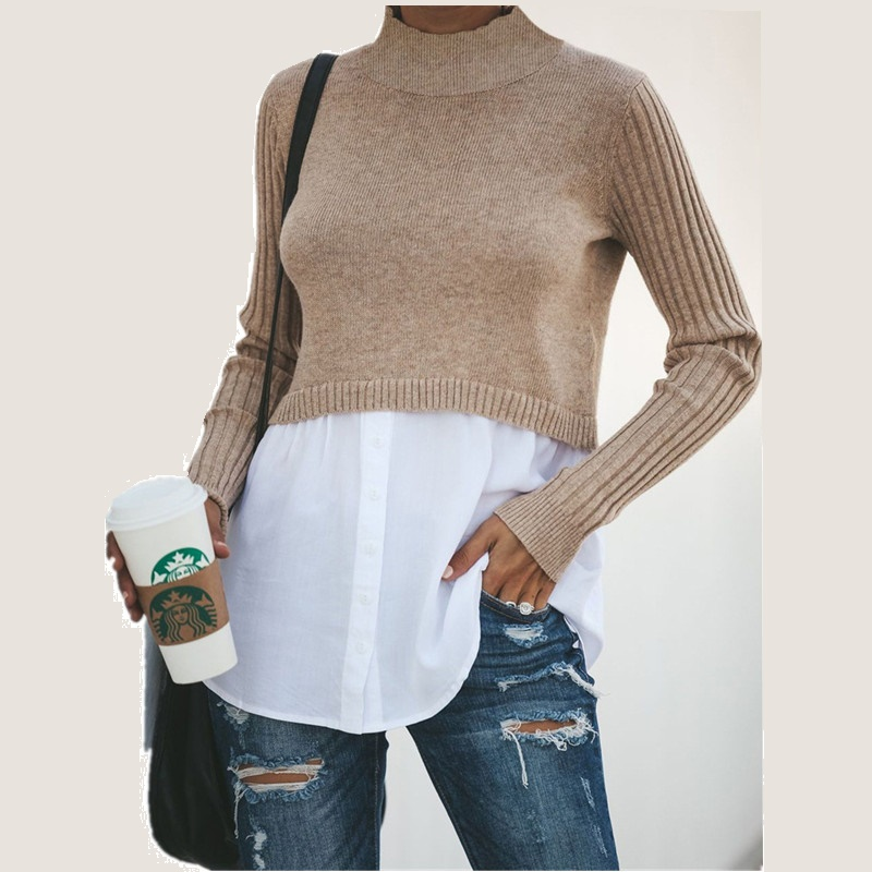 O-Neck Black Solid Pullover Sweater Woman 2019 New Autumn Winter Long Sleeve Sweaters Shirt Women Tops Pull Hiver Femme Clothes