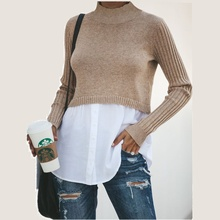 O-Neck Black Solid Pullover Sweater Woman 2019 New Autumn Wi