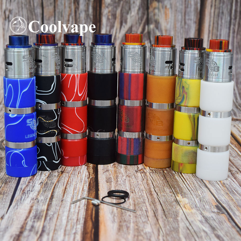 Coolvape Style Sob Elthunder Mod Kit 18650 Battery 25MM Diameter Titan X Mod Vaporizer Mechanical Vape Kits Avid Lyfe Mod