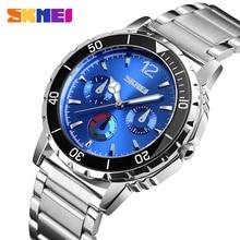 SKMEI Top Luxury Business Watch Men Luxury Fashion Quartz Wristwatch Waterproof Stainless Steel Wristband Quartz Watch 1482 все цены