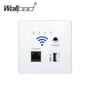 Image 1 - 2020 New White USB Socket Wireless WIFI USB Charging Socket,Wall Embedded Wireless AP Router, 3G WiFi Repeater Free Shipping