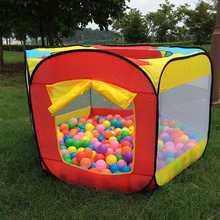 Портативный игровой детский тент для детей, закрытый открытый бассейн с океаническим мячом, складывающиеся игрушки, замок, детский домик для комнаты, подарок для детей
