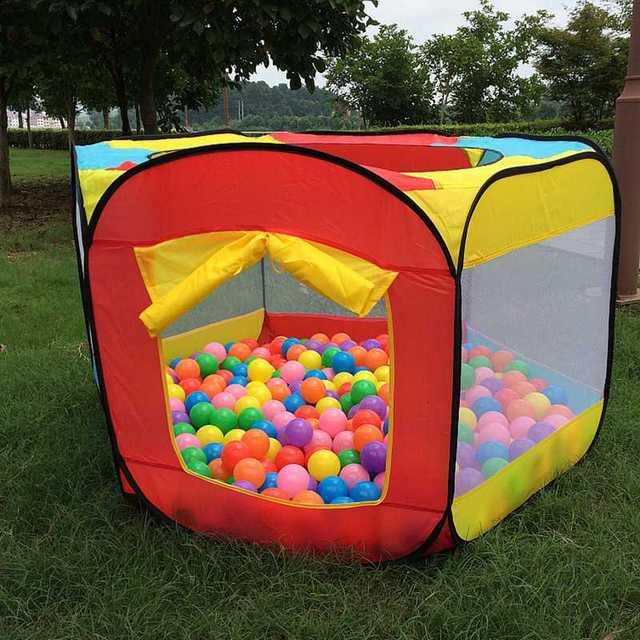 Draagbare Spelen Kinderen Tent Kinderen Indoor Outdoor Oceaan Ballenbad Vouwen Cubby Speelgoed Kasteel Enfant Kamer Huis Cadeau Voor Kinderen