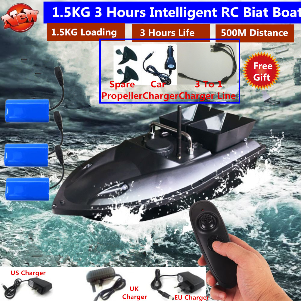180Mins 500m RC Distacne Auto RC Remote Control Fishing Bait Boat Speedboat Fish Finder Ship Boat With EU charger US/UK Charger(China)