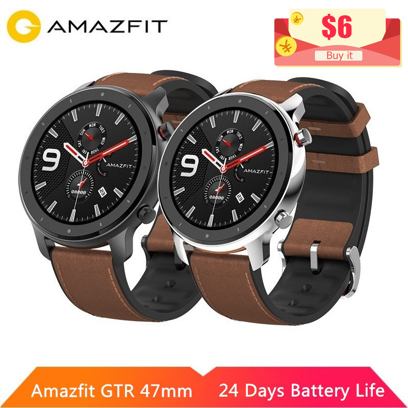 Amazfit Smart-Watch Gtr 47mm 42mm 12-Sport-Modes Android 5ATM Original GPS Waterproof