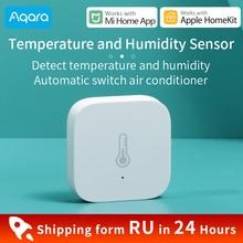 Aqara استشعار درجة الحرارة الرطوبة ل شاومي المنزل الذكي البيئة ضغط الهواء الاستشعار زيجبي اتصال العمل ل Mi المنزل APP