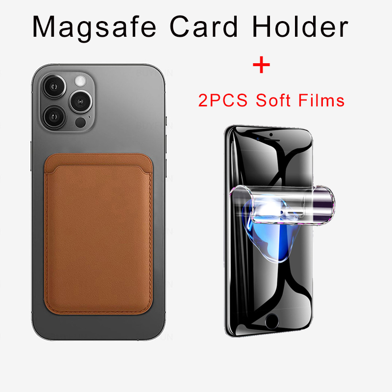 For Apple iPhone 12 Leather Wallet with Magsafe Card Holder For iPhone 12 Pro Max Case Magsafe Magnetic Phone Shell for iPhone