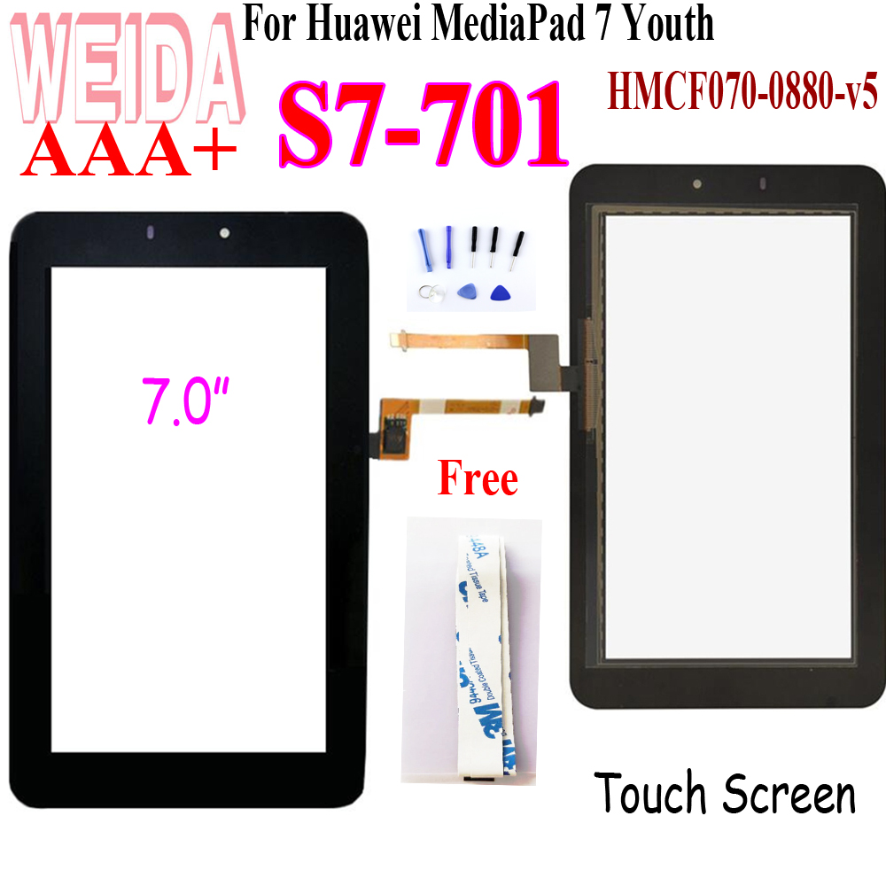 7inch For Huawei MediaPad 7 Youth S7-701 Touch Screen For Huawei S7-701U S7-701W HMCF070-0880-V5 Touch Screen Panel Replacement