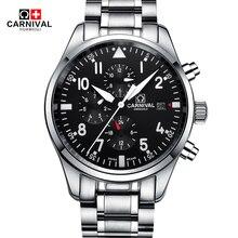 Fashion Pilot Watch CARNIVAL Automatic Mechanical W