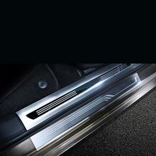 Lsrtw2017 Stainless Steel Car Door Sill Threshold Trims for Skoda Superb 2016 2017 2018 2019 2020 Accessories lsrtw2017 stainless steel car door sill strip threshold trims for skoda octavia 2015 2016 2017 2018 2019 2020