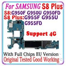 64ギガバイトオリジナルS8プラスG955FD G955F G955U G950FD G950F G950Uマザーボードeuバージョンロジックボード回路基板プレート