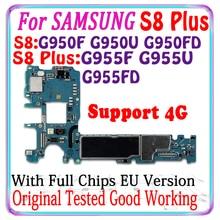 64GBสำหรับSamsung S8 Plus G955FD G955F G955U G950FD G950F G950Uเมนบอร์ดรุ่นEu Logicบอร์ดแผงวงจรแผ่น