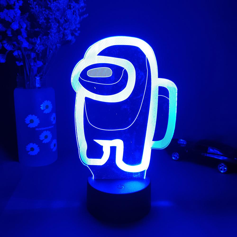 Among Us 3D Crewmate Led Light Imposter Crewmate LED Lamp blue