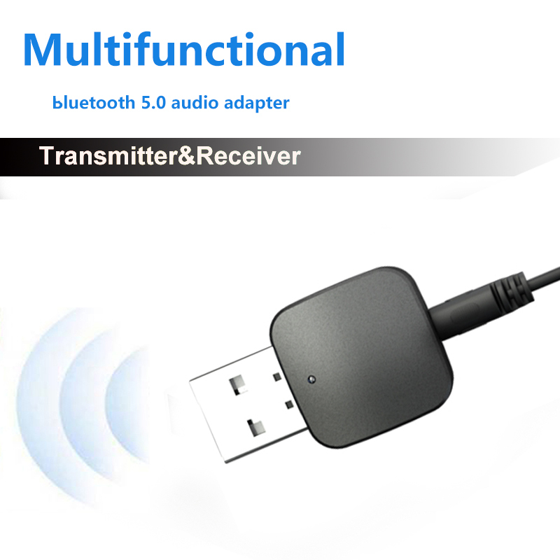 iMars KN324 Wireless <font><b>bluetooth</b></font> <font><b>5.0</b></font> Audio Transmitter <font><b>Receiver</b></font> Adapter 2-In-1 3.5mm AUX for PC Computer TV <font><b>Car</b></font> Music Stereo image