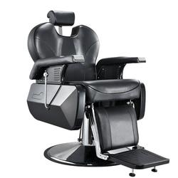 10% خارج الثقيلة صالون حلاقة كرسي حلّاق للرجال الوشم الجمال خيوط الحلاقة إمالة الظهر الراحة كرسي أسود