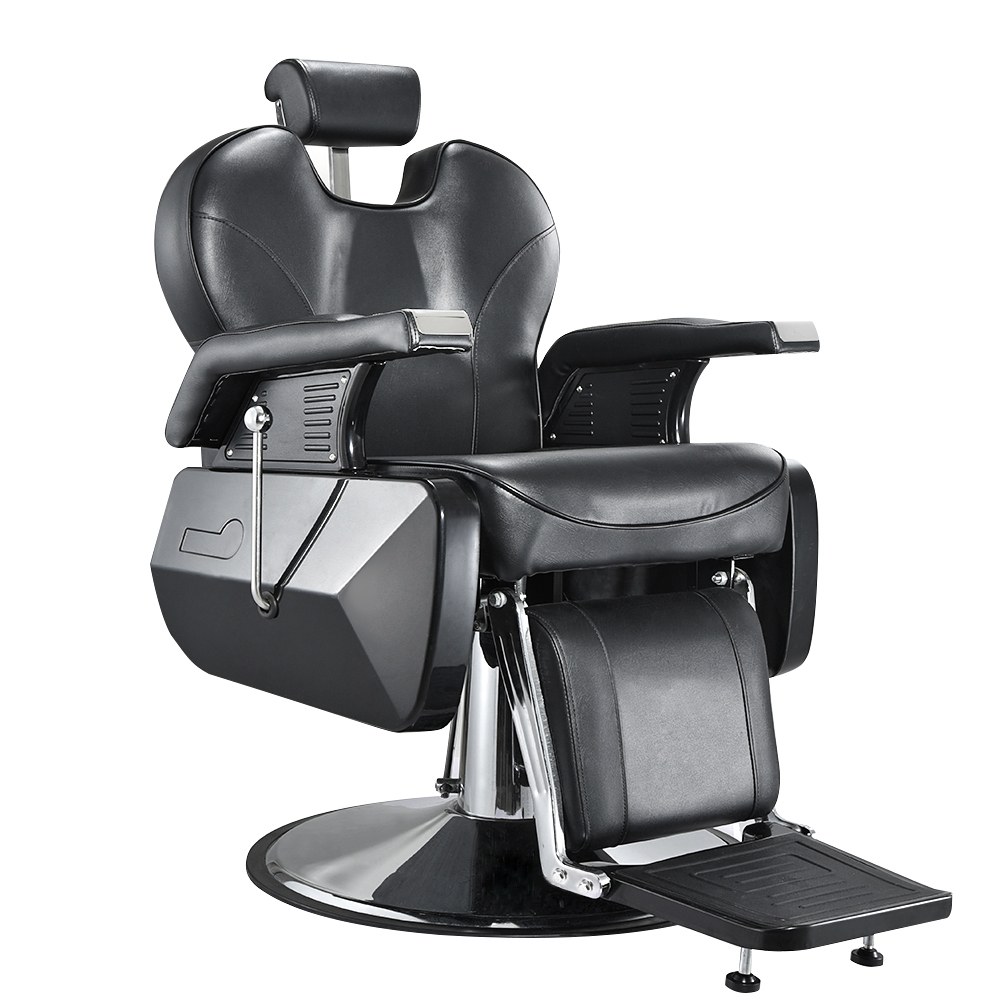 Presale 10% Off Heavey Duty Barbershop Shop Salon Barber Chair Tattoo Beauty Threading Shaving Tilting Back Comfort Chair Black