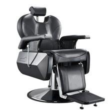 Chaise de barbier, 10% de réduction sur le dossier, confortable et inclinable, pour Salon de coiffure, tatouage, beauté, filetage, rasage, noir, prévente