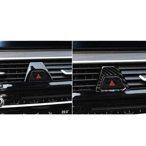 Image 3 - In Fibra di carbonio M Stile Attenzione Luce Pulsante Coperture Della Decorazione Della Decalcomania Auto Interni per BMW 5 Serie G30 G38 528i 530i 2018