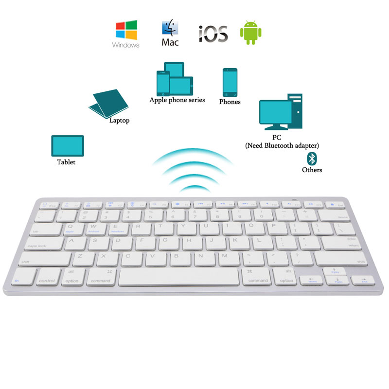 Free shipping New Brief Ultra-Slim Wireless Bluetooth <font><b>Keyboard</b></font> for <font><b>iPad</b></font> Air 2 <font><b>iPad</b></font> <font><b>mini</b></font> 1\2\3\<font><b>4</b></font> Galaxy Tabs Microsoft image