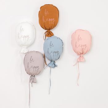 Nordic Cartoon bawełniana ściana z balonami wiszące uroczy balon poduszka dekoracje ścienne dla dzieci pokój sypialnia tło DIY dekoracji tanie i dobre opinie CN (pochodzenie) Litery Tekstylia i tkaniny MEDITERRANEAN PP Cotton Multi-functional Balloon polyester cotton anti-static