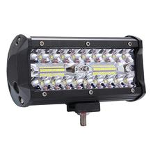 GloryStar High Bright 400W LED 3 Rows 7inch 40000LM Work Light Bar Driving Lamp