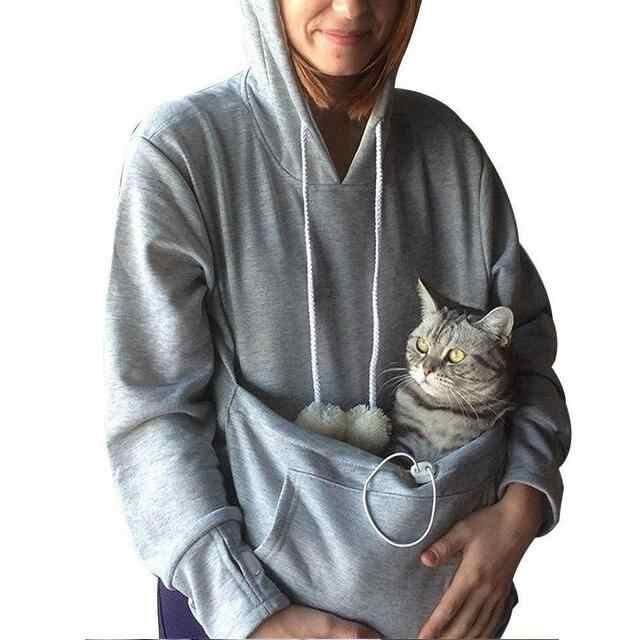 Sweatshirt Cat Hoodie Pet Casual Unisex Cat Kangaroo Pocket Hoodie Sweatershirts Cat Casual Hoodie Sweater Shirts Adult Version Houses Kennels Pens Aliexpress