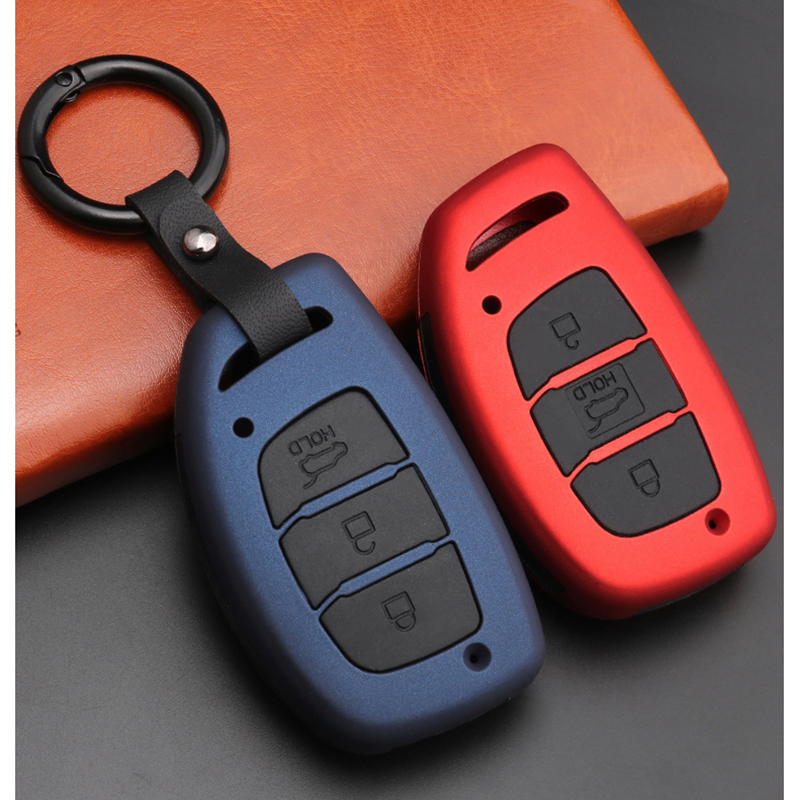 2020 Silicon ABS Carbon fiber Car Key Cover For Hyundai IX30 IX35 IX20 Tucson Elantra Verna Sonata Smart Remote Case Accessories