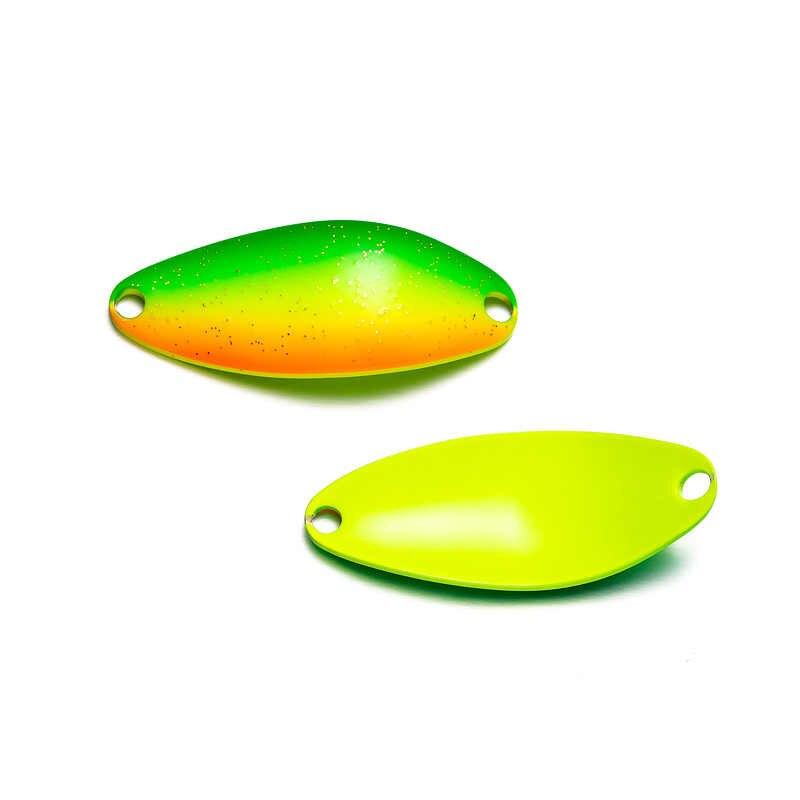 LTHTUG Pesca cuchara de cobre cebo 3,5g 32mm señuelo de Pesca de Metal con un solo anzuelo señuelos de cebo duro Spinner para trucha perca Chub salmón