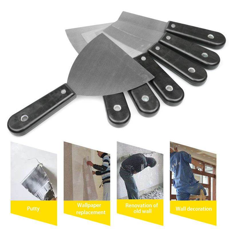 2019 Hot Putty Knife Wall Shovel Scraper Blade Carbon Steel Plastic Handle Shovel Filling Oil Painting Tools