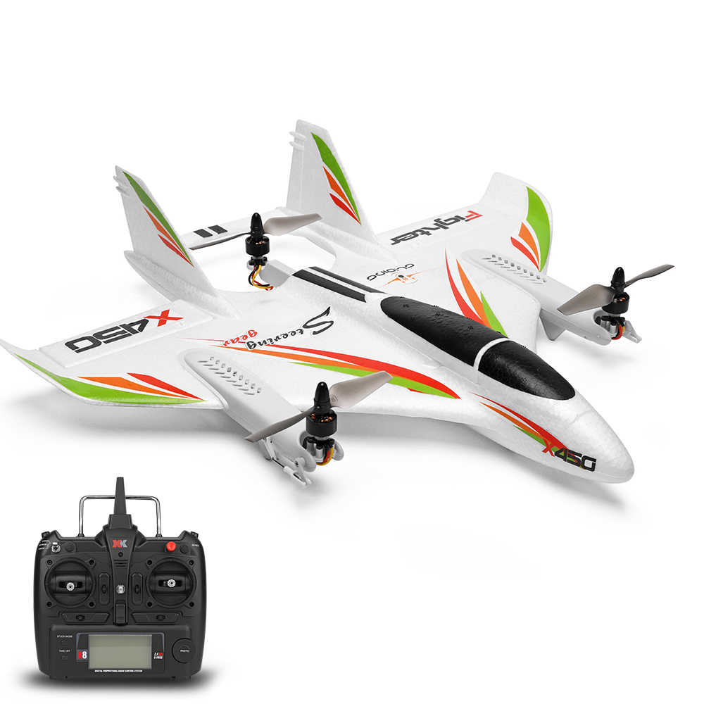 WLtoys XK X450 2.4G 6CH 3D/6G RC Helikopters Verticale Opstijgen LED RC Zweefvliegtuig Fixed Wing RC vliegtuig RTF Met Kid's Speelgoed