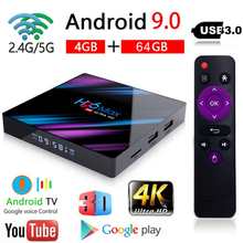 H96 MAX TV Box Android 9.0 Smart IPTV 4GB Ram 64GB Rom 4K 5G Wifi Bluetooth 3D Android Box Set top Box Media Player Smart TV цена и фото