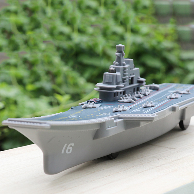 Electric Plastic Mini Aircraft Carrier Children Toy Model Birthday Gifts w/Light 1