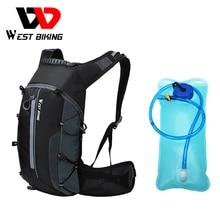 Mochila deportiva WEST BIKING de 10 l, bolsa plegable para bicicleta, bolsa de viaje para montañismo, mochila para hombres y mujeres, bolsa de ciclismo para sujetar el agua