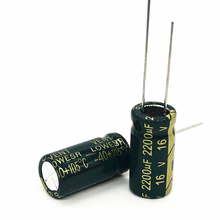 16V 2200UF 10*20  high frequency low impedance aluminum electrolytic capacitor 2200uf 16v 20%
