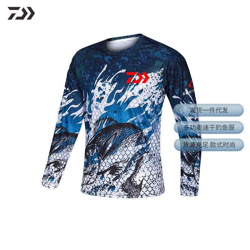 Daiwa roupas de pesca camisas jaqueta proteção