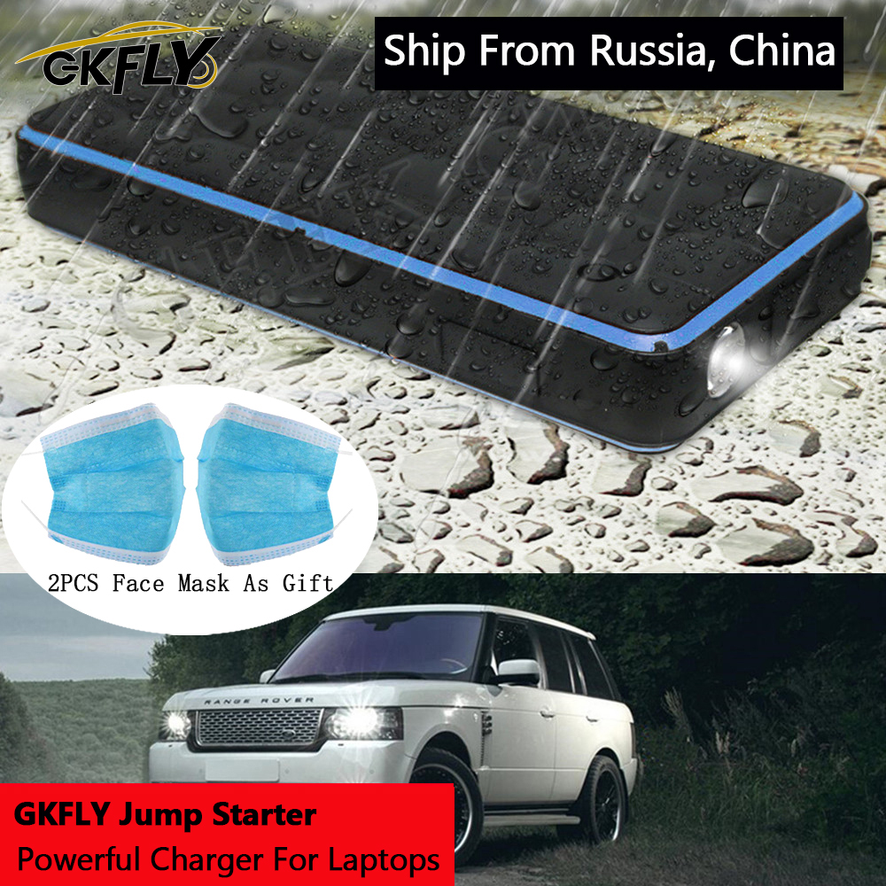 GKFLY Waterproof 28000mAh Car Jump Starter Power Bank 12V 1000A Portable Starting Device Car Charger For Petrol 8.0L Diesel 6.0L