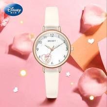 Disney Original Micky Minnie Mouse Casual Women Wrist Watch Designer Ladies Luminous Clock Simple Dress Gfit Montre Femme 11302