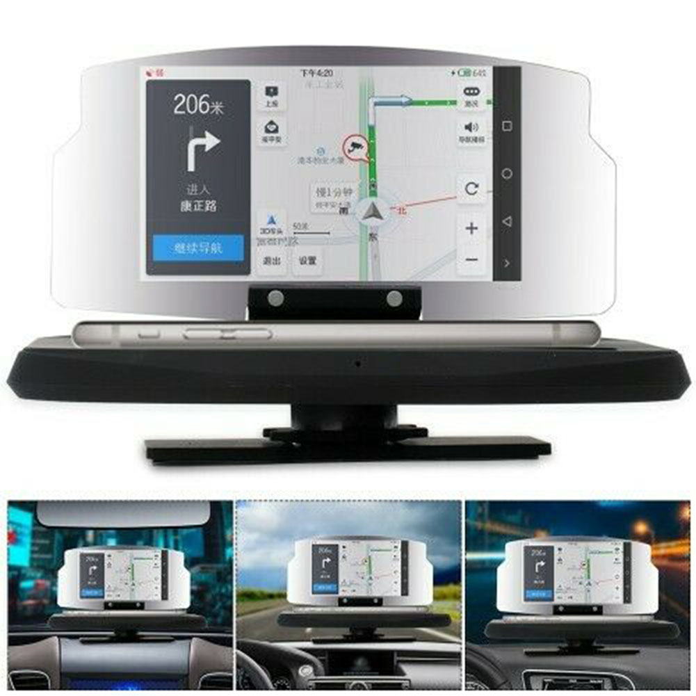 Car Projector Universal Smart Driving Portable GPS Navigation Head Up Display Clear HD Speed Warning Safe Phone Holder